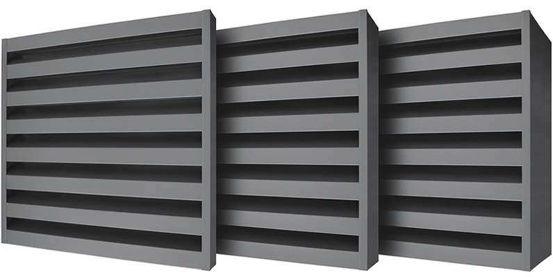 Acoustic Louvre Aluminium Panels Advanced Ventilation